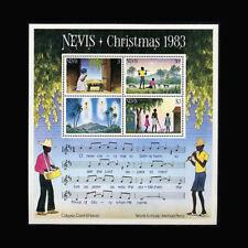 Nevis, Sc #189a, MNH, 1983, S/S, Christmas, Music, CL043F