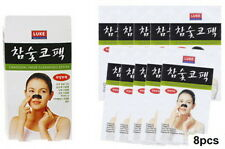 Korean Charcoal Nose Pore Cleansing Strips Blackhead Peel Off mask pack_8 pcs