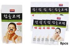 Korean Charcoal Nose Pore Cleansing Strips Blackhead Peel Off mask pack_8 pcs