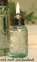 Mason Jar OIL LAMP Glass Miniature Parties Weddings Camp  Lamp Oil Not Included