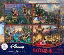 Thomas Kinkade Disney 4 X 500pc - V7
