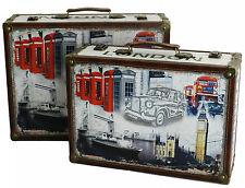 Set due valigie valigetta stampate stampa Union jack bandiera inglese Londra