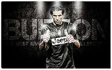Quadro moderno BUFFON capitano juventus juve 100x60 calcio scudetto bianco nero