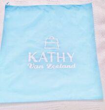 Brand new light blue Kathy van zeeland cloth bag with tie