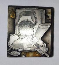 Coal Furnace cutout - unknown logo?, Advertising Print Block Wood base [1521]