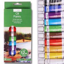 10Pc High Quality OIL PAINT SET 12ml Tubes Art/Craft Long Artist Lasting Colour