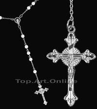Femme Unisexe Croix Pendentif Chapelet Collier Chaîne Perle Cadeau Accessoire