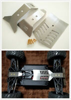 For ARRMA 1/8 Big Rock Nero Stainless Steel Skid Plate Chassis Protect Armor