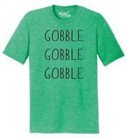 Mens Gobble Gobble Gobble Tri-Blend Tee Food Thanksgiving Holiday Shirt