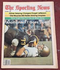 10-3-81 SPORTING NEWS ALABAMA MICHIGAN WOLVERINES FOOTBALL ON THE COVER