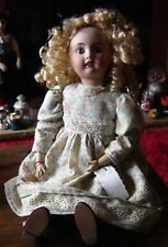 "Petite Francaise France Français 1915-1921 Liane JV 7D antique Doll 19"" Tall."