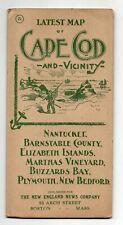 Early 1900 Map of Cape Cod, Nantucket, Martha's Vineyard