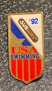 BARCELONA 1992 OLYMPIC PINS - USA NOC SWIMMING TEAM PIN