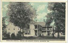 Woodlawn Hospital Pontiac Seventh Rochester IN Indiana Postcard