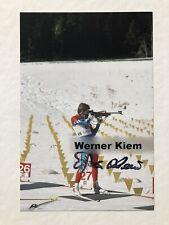 original Biathlon Autogramm Werner Kiem