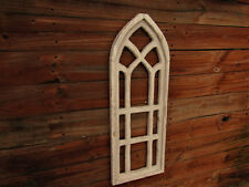 """Blue Black White unfinished 36"""" distressed Cathedral window SOLID WOOD Decorativ"""