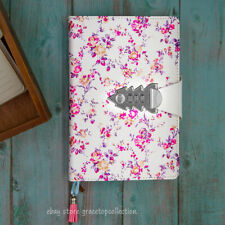 Girls Flower Leather Journal Dairy with Password Lock Womens A5 Paper Notebook