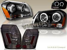 05-07 Magnum Black Projector LED Headlights CCFL Twin Halo + LED TAIL LIGHTS