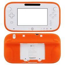 Cubierta de Silicona Naranja Nintendo Wii U media Gamepad Estuche Protector Gel Parachoques