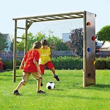 bekletterbares Fußballtor für Kinder Fußballwand Holz Spielturm Klettergerüst