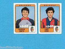 PANINI CALCIATORI 1984/85 -FIGURINA n.327- ZINETTI+FERRI - BOLOGNA -Rec