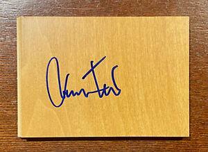 JERRY WEST Signed Floorboard Los Angeles LAKERS Floor Board Piece 3.5x5 HOF