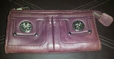 Marc by Marc Jacobs Elderberry Leather Totally Turnlock Zip Top Clutch Wallet