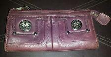 Marc by Marc Jacobs Elderberry Leather Totally Turnlock Zip Top Clutch Wallet