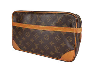 LOUIS VUITTON Compiegne 28 Monogram Canvas Pouch Clutch Bag LP4010