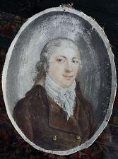 Miniatur oval Portrait ad vivum C. D. Voigt 1796 Kiel  originales Aquarell