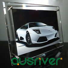 A4 Acrylic Clear Photo Frame Poster Picture Holder Home Desk Display Decor