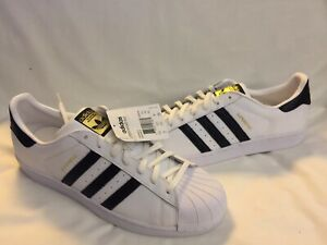 New Adidas Originals Superstar East River Rival Shoes B34308 Sz 13 White Black