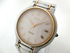 Auth SEIKO Dolce 7741-6050 Beige 180129 Men's Wrist Watch