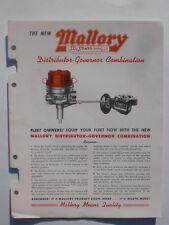 Mallory Electric Corp Distributor-Governor Combination & coils 1947 catalog