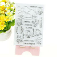 Dancing cow Clear Silicone Stamp/Seal for DIY Scrapbooking/photo Album Decor LS