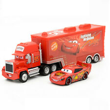 Disney Pixar Cars 2pcs Lightning McQueen Uncle Jimmy The King 1:55 Diecast Metal