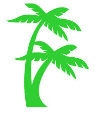 PALM TREES VINYL DECAL STICKER BEACH OCEAN  CHOOSE COLOR