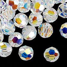 4 Swarovski Crystal AB 5000 Round Crystal Beads 10MM