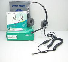 ADD880-04 Binaural Headset for Avaya 1608I 1616 9620 9630 & Grandstream GXP2130
