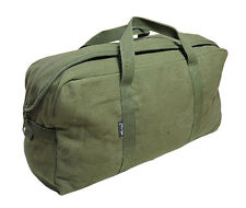 Olive Pilot Carry-On HOLDALL Cotton Canvas Travel Bag