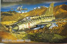 MAQUETA AVION MIG-21 PF (later) INDIAN TIGER  FUGIMI H-23