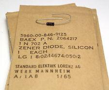 10x Zener Diode im Glas-Gehäuse, Typ 1N702 A, 2.6 Volt, 400 mW, NOS