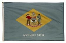 4x6 ft DELAWARE The First State OFFICIAL STATE FLAG Outdoor Nylon Made in USA