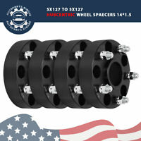 "4pc1.5"" Black 5x5 Hub Centric Wheel Spacers For 2011-2018 Jeep Grand Cherokee"