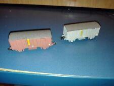 Vagones de mercancías de escala N color principal marrón para modelismo ferroviario