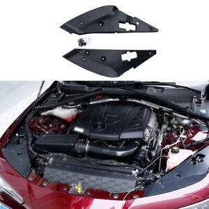 Fit For Alfa Romeo Giulia 2017-2021 Black Engine Hood Left And Right Cover 2pcs