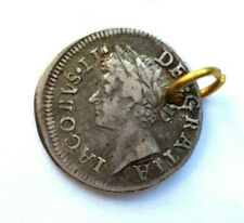 More details for 1687 england king james ii silver maundy twopence coin - pendant
