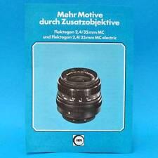 Flektogon 2,4 35 mm electric 1978 | Werbezettel Werbung DDR DEWAG Berlin A