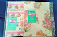 2 different Packages Vintage Peppermint Rose Dolls SCENTED Gift Wrap Paper NOS