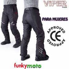 Pantalons noirs en armure homologué CE pour motocyclette Femme